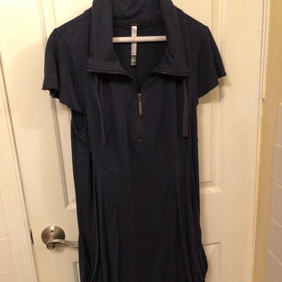 Kensie Dresses & Skirts - Kenzie quarter zip pullover navy colored dress